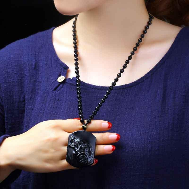 黑曜石项链-3