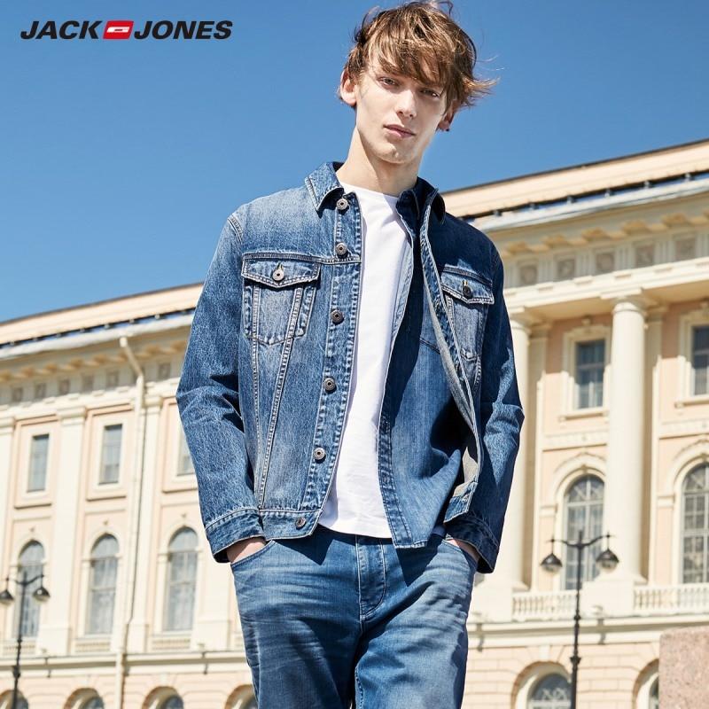 JackJones Men's Streetwear Trendy Casual Denim Jackets Coats 219357515