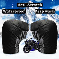 Motorbike/Scooter Handlebar Grip Muffs 35x26cm Waterproof Windproof Motorcycle Hand Handlebar Gloves Winter Thicken Warmer