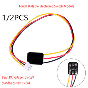 Hot Mini Touch Switch DC 3V-18V 12V 2A Capacitive Touch Bistable Electronic Switch Module LED Relay 5V For Acrylic Glass Ceramic