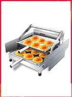 Forno de cozimento bonde automático comercial do hambúrguer da máquina do cozimento do hambúrguer de 220 v 2 camadas|Processadores de alimentos| |  -