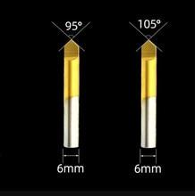 Originale multi funzione di 95/105 gradi titanium placcato drill bit fresatura taglierina fossetta per embrione chiave copia macchina fabbro strumento