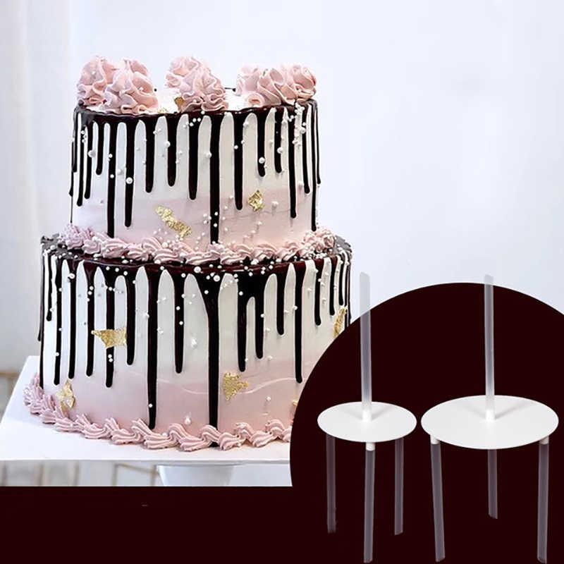 6/8 Inch Multi-Lapisan Kue Bracket Penopang Spacer Bingkai Praktis Kue Berdiri DIY Makanan Penutup Membuat Dekorasi Alat aksesoris Dapur