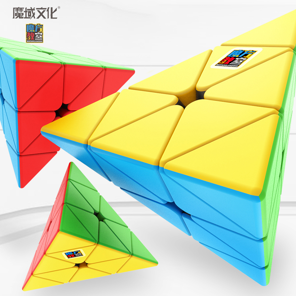 MoYu Cubing Classroom Meilong 3x3x3 Jinzita Pyramid Cube Magic Speed Cubes Professional Puzzle Cubes Education Toys For Kids