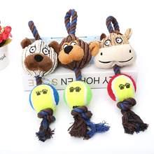 Odporna na ugryzienia zabawkowe piłki dla psa dla małych średnich psów czyszczenie zębów Puppy tenis zabawki produkty dla zwierzaka domowego akcesoria dla psów zabawka dla psa