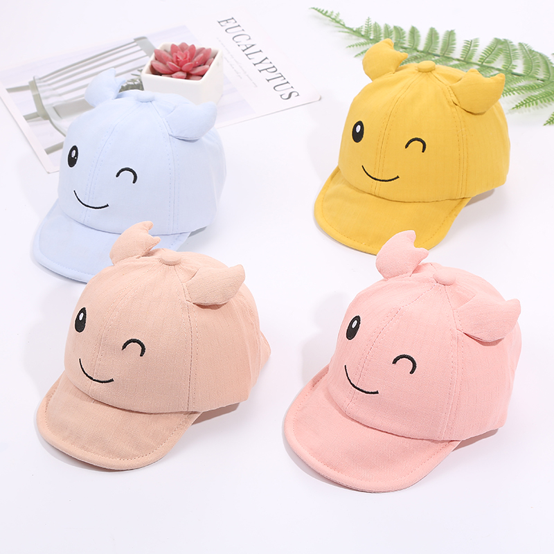 Hc9eef081647c4a96af8e699c60a994e6K - Baby Hat Cute Bear Embroidered Kids Girl Boy Caps Cotton Adjustable Newborn Baseball Cap Infant Toddler Beach Outdoor Sun Hat
