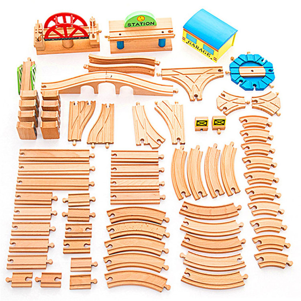 Scene Track Accessories Fit For Beech Thoma Bridge Rail And Brio Wooden Train Educational Boy Kids Toy Multiple Track