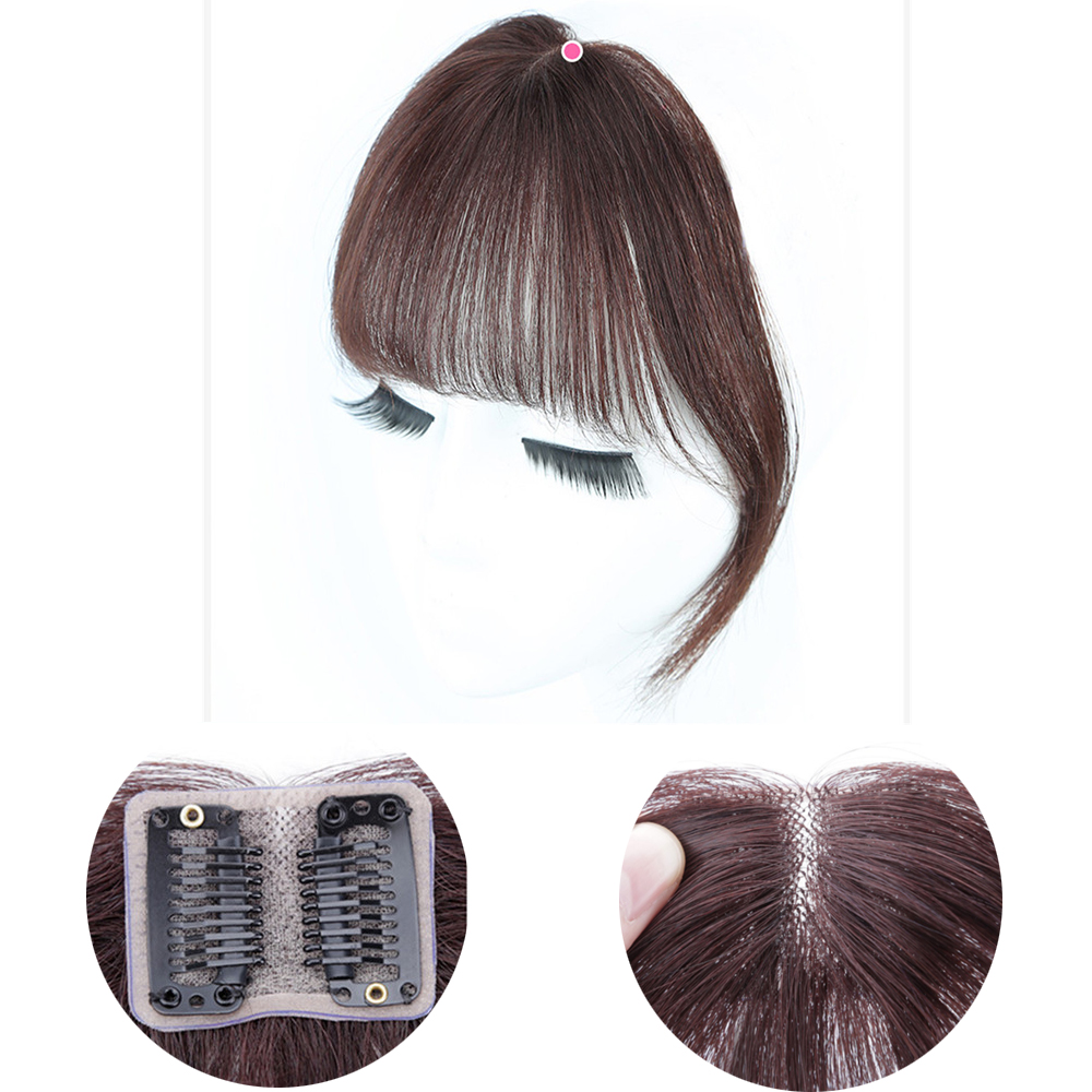 Salonchat 100% Remy Human Hair Bangs Hair Natural Clip In Bangs Human Hair Lace Bangs Clip In Air Bang Fringe Hair