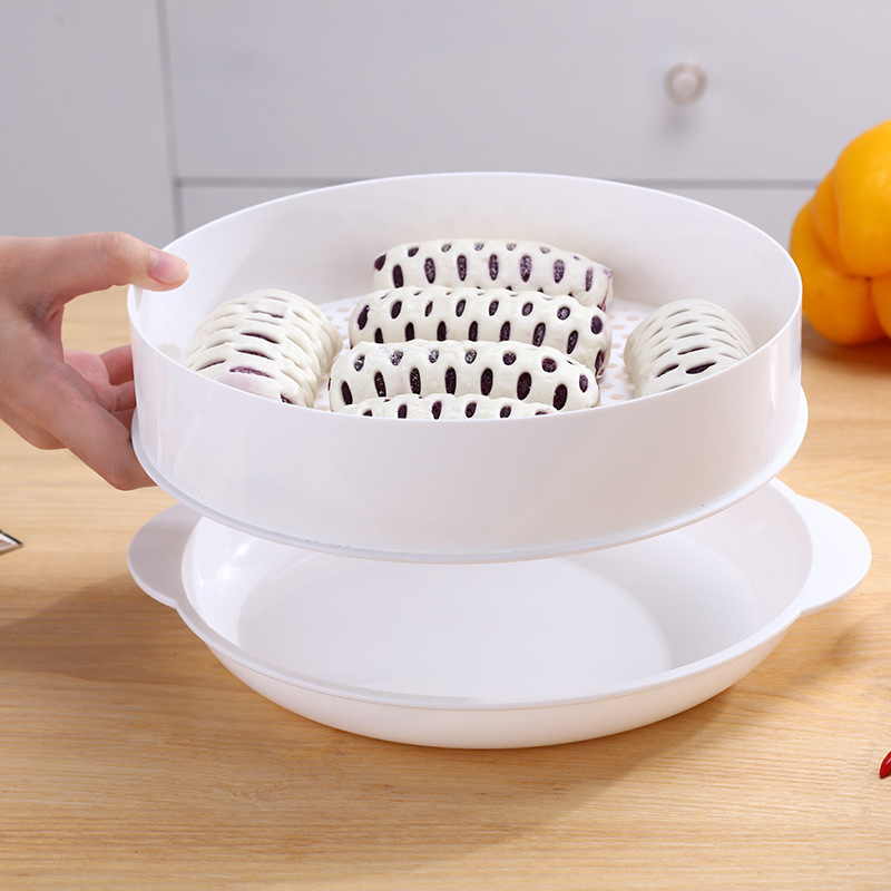 Practical Microwave Oven Special Steamers Eco-friendly Durable PP Steamed Buns Steaming Utensils With Lid Kitchen Cookware