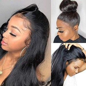 Image 3 - Pelucas de cabello humano con encaje Frontal pelucas de cabello humano liso con cierre de encaje Frontal, Remy brasileño, 150%