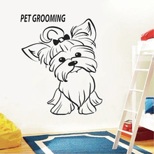 Pet Shop wall Decal grooming Salon wall sticker vinyl Animal home wall decor removable wall art mural JH144 welcome sign many languages wall sticker decal art vinyl mural office shop home wall decor welcome diy wallpaper removable bg07