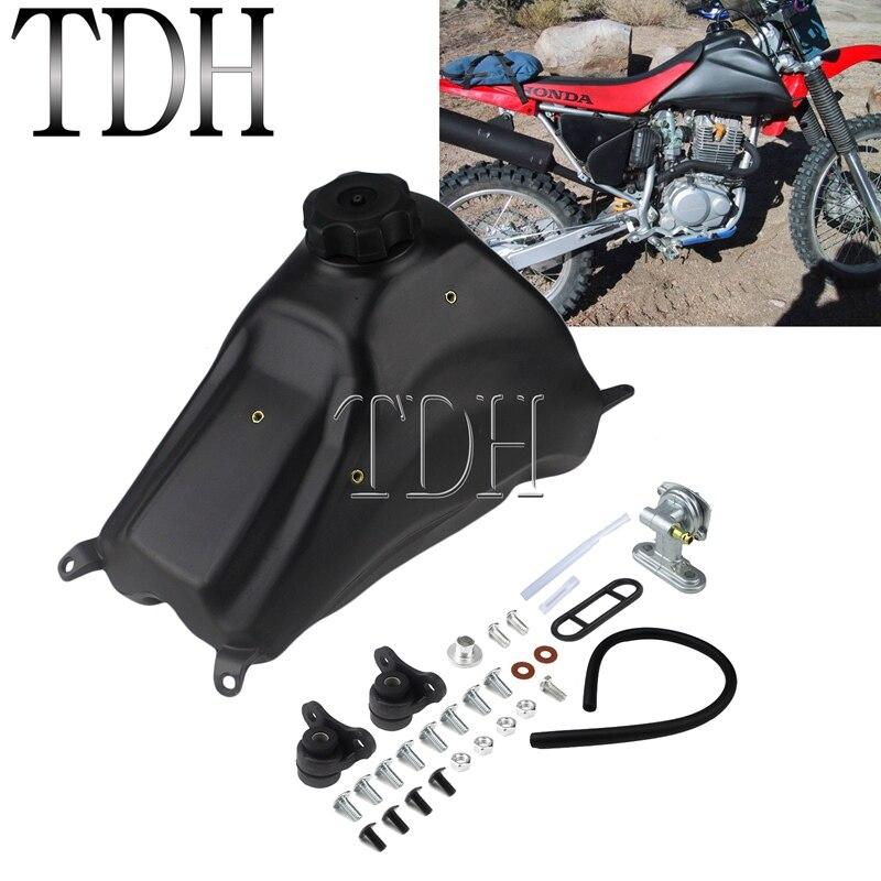 Black Dirt Bike Motocross Fuel Tank Gas Petroloil Tank With Tank Cap For Honda CRF CRF230F 2015-2019 2017 2018