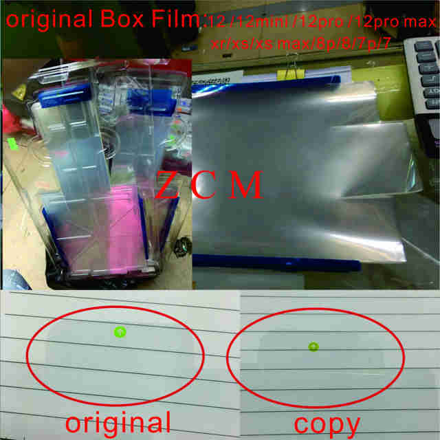 100 adet orijinal abd/UKversion plastik film ambalaj zarf membran iphone 12pro 8 8 artı XS MAX paketi yeni kutu mühürlü