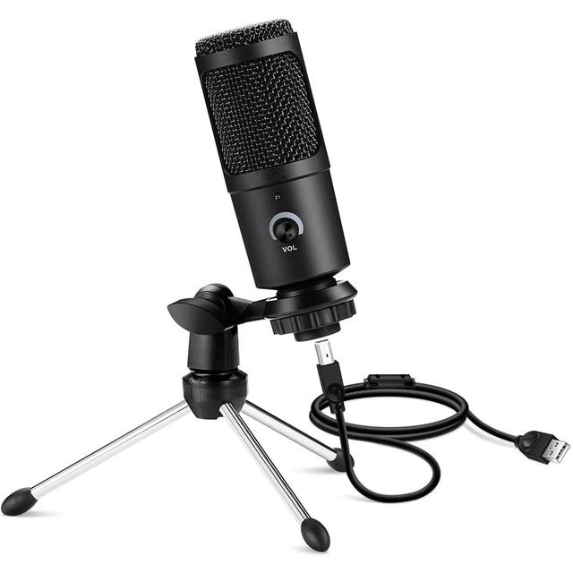 Microfone Condensador USB Profissional Para Computador Ideal para estúdio de Gravação e Lives 1