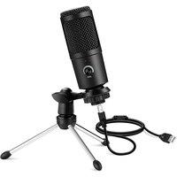 USB Mikrofon Professionelle Kondensator Mikrofone Für PC Computer Laptop Aufnahme Studio Singen Gaming Streaming Mikrofon