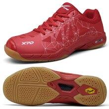 2020 New Professional Badminton Training Shoes for Men Women Red Blue Indoor Anti Slip Mens Athletic