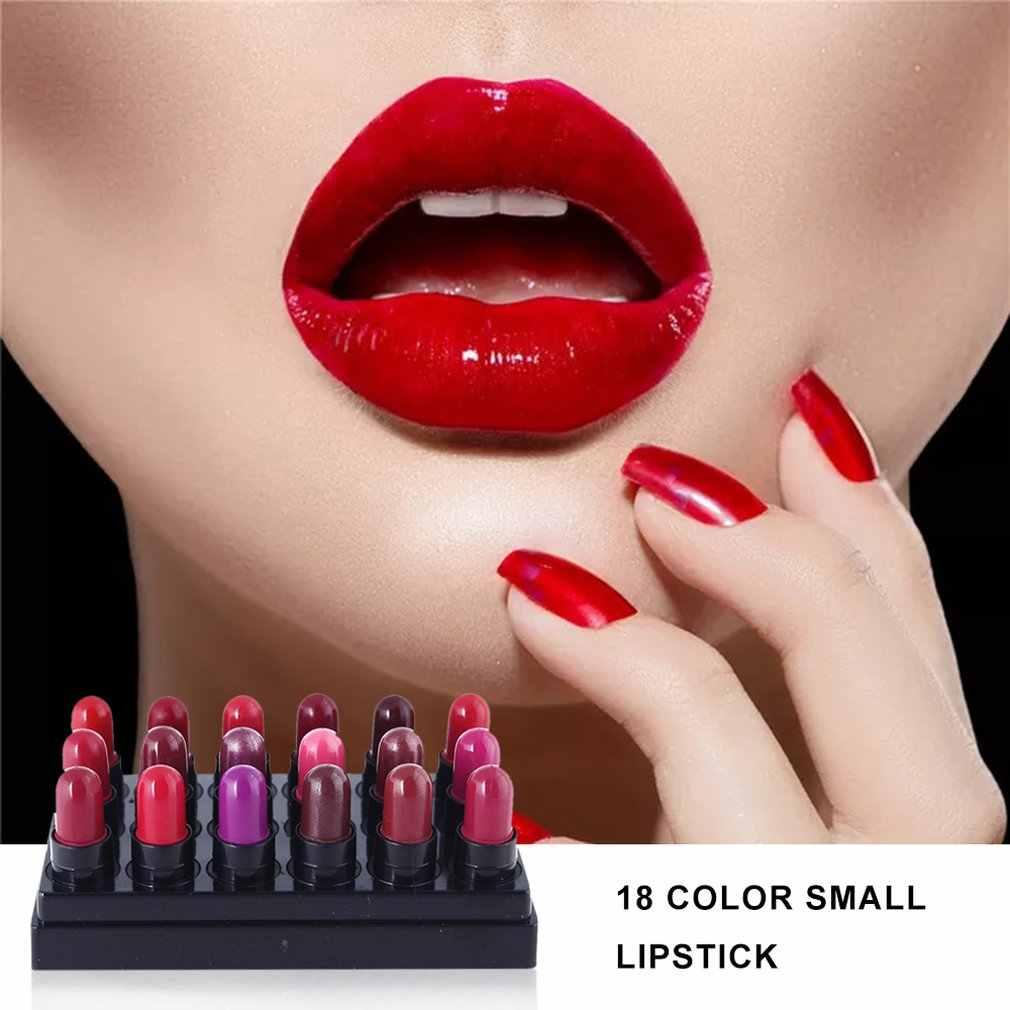 ข้อเสนอพิเศษ Off-The-shelf 18 สีลิปสติกขนาดเล็ก eBay AliExpress explosion-proof ลิปสติกประหยัดลิปสติก