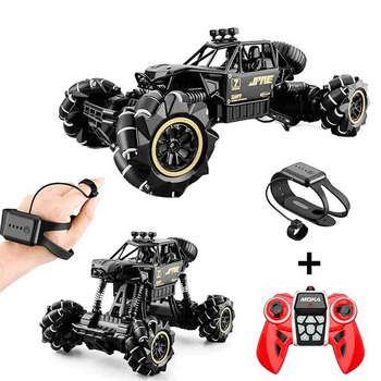 cool stunt remote control motorcycle deformation 2 4g mini rc motorcycle drift light concept flip cars led lights for kids gift 1:16 Rc Cars 4wd Watch Control Gesture Induction Remote Control Car Machine For Radio-controlled Stunt Car Toy Cars RC Drift Car