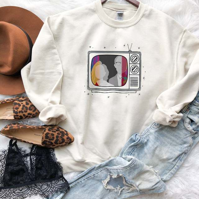 New Tv Show WandaVision Sweatshirt An Unusual Couple Wanda TV Graphic Crewneck Pullover Scarlet Witch Hoodie Hipster Tops 1