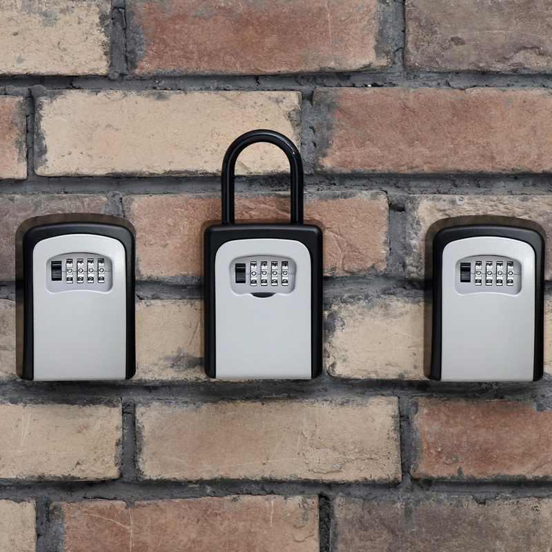 Loozykit 4-digit Password Outdoor Chiave di Sicurezza In Lega di Dialogo Tasti Scatole di Immagazzinaggio Chiave del Lucchetto di Sicurezza Dell'organizzatore Della Parete Appeso Blocco di stoccaggio