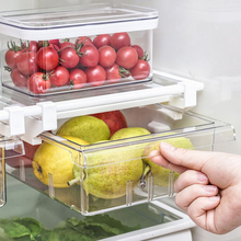 Органайзер для холодильника с 1/4/8 отделениями, органайзер для ящиков холодильника, прозрачный контейнер для хранения холодильника, контейн...