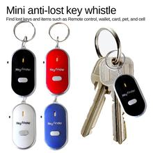 Portable Mini Wireless Control Anti-Lost Key Finder Locator Key Chain Whistles Sound With LED Light Alarm Reminder within 7meter