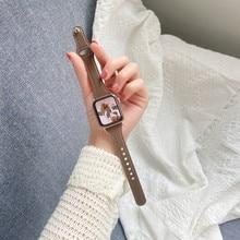 Pulseira de couro genuíno para apple watch band 38mm 40mm 44mm 40mm 40mm para iwatch 6/se/5/4/3/2/1 faixa de pulso