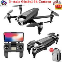 2020 NEUE S137 Drone 6K Doppel Kamera Drone 3-Achsen Gimbal 50X ZOOM 170 ° ESC FPV Drone RC Abstand 2km GPS Drone Quadcopter Spielzeug