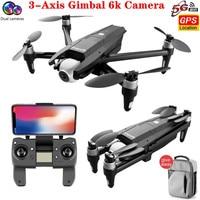 Dron S137 con cámara doble, 6K, 3 ejes, cardán, ZOOM 50X, 2020 °, ESC, FPV, RC, distancia, 2km, GPS, cuadricóptero de juguete, novedad de 170