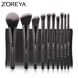 Image 1 - ZOREYA 10pcs Portable Makeup Brush Set for Mascara Eye Powder Eyebrow Cosmetics Tools