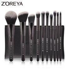 Zoreya 10 Stuks Draagbare Make Up Borstel Set Voor Mascara Eye Poeder Wenkbrauw Cosmetica Gereedschap