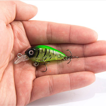 4.5cm/4g Baits bait pike bait wobbler  Fishing Tackle Insect Bait fake Black Hard Baits Bass Built-in Bead Bait artificial lures diving distant baits big bait pike bait wobbler fishing tackle insect bait fake black hard baits bass beaded nightlight baits