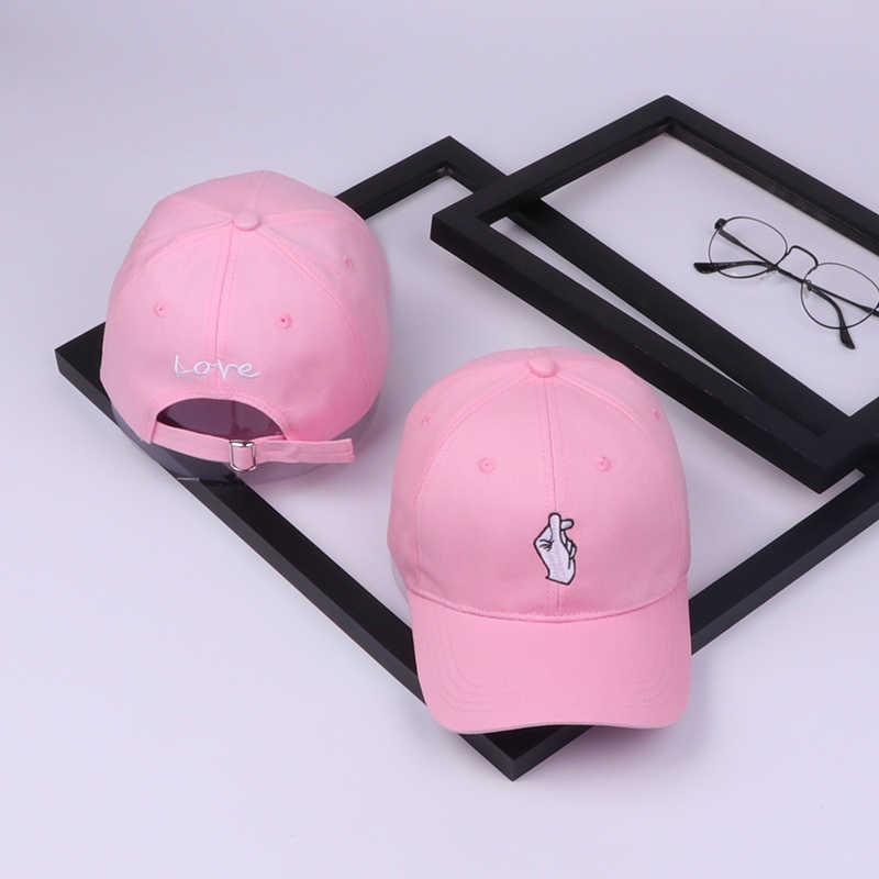 Verano para hombre sombrero nuevo que el corazón sombrero Unisex mujeres hombres sombreros gorra de béisbol Snapback Casual ajustable Hip Hop Finger Sun Caps
