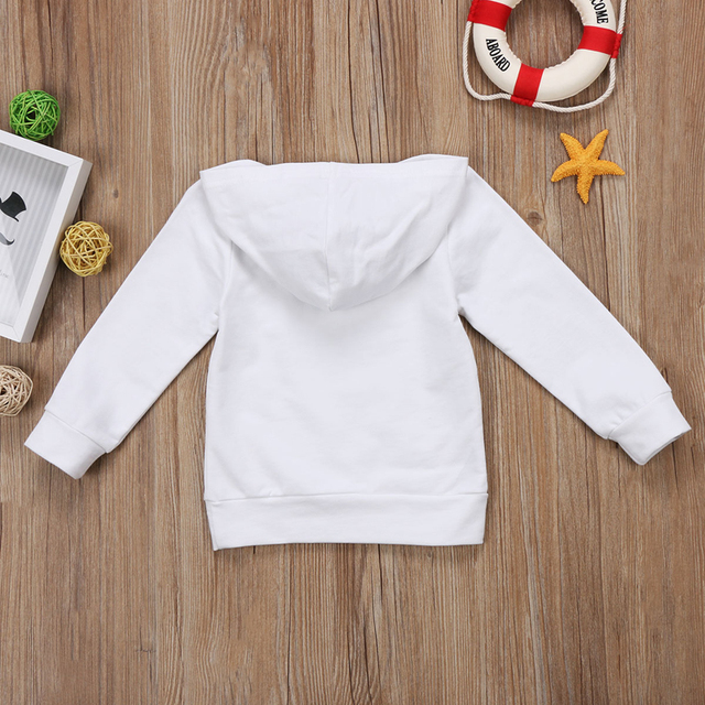 Pudcoco US Stock Newborn KIds Baby Boy Girl Clothes Hoodie Tops Hooded Sweatshirt Casual Outdoor Sport 4