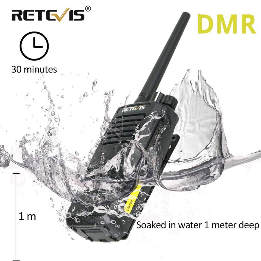 High Power DMR Radio Digital IP67 Waterproof Walkie Talkie Retevis RT50 Display UHF VOX Portable Two Way Radio  Walkie-Talkie