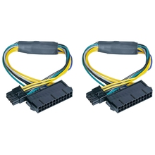 2 PCS 24 Pin to 8 Pin ATX PSU Power Supply Adapter Cable for DELL Optiplex 3020 7020 9020 Precision T1700 12-Inch(30cm)