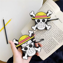 For AirPod 2 Case 3D One Piece Cartoon Soft Silicone Wireless Earphone Cases Apple Airpods Cute Cover Funda