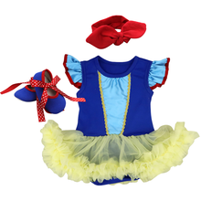 Halloween Costume for Girls 2pcs Set Cute Snow White Cosplay Fancy Dress Up Halloween Party Outfit Cake Smash Baby Girls Clothes цена в Москве и Питере