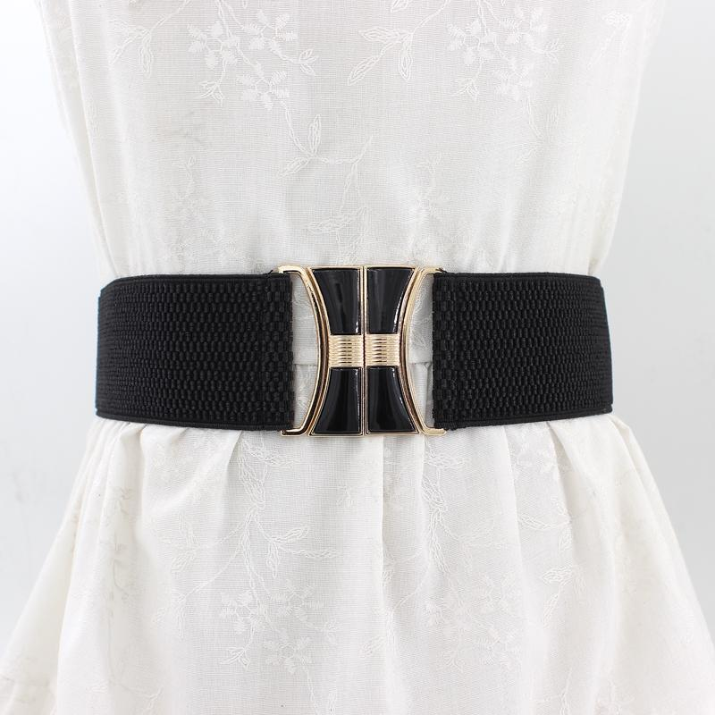 High Quality Hot Brand Fashion Black Corset Belt  Elastic Belt  Wide Waist Belts Women