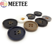 50pcs high-grade resin black and white blue grey brown coat m Navy buckle four eye suit buttons