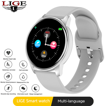 New LIGE Men Women Smart Watches Real Time Watch Heart Rate Monitor Sports Smartwatch Bracelet for Android IOS