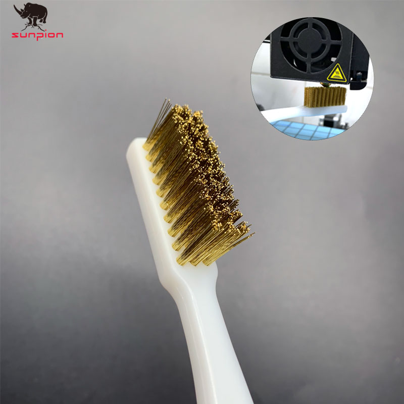 3D Printer Cleaner Tool Copper Wire Toothbrush Copper Brush Handle Hotend Cleaning Hot Bed Cleaning Parts For Nozzle Block