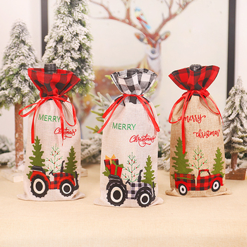 New Year 2021 Gift Bags Holder Christmas Car Tree Wine Bottle Cover Xmas Noel Christmas Decorations for Home Navidad 2020 Decor image