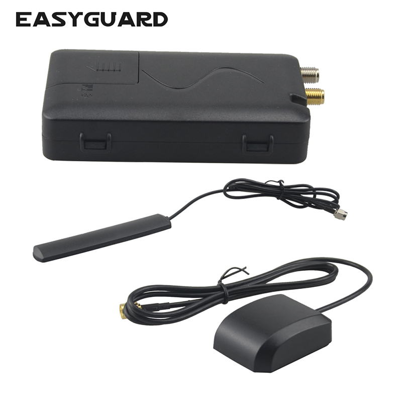 EASYAGUARD Car Alarm System GPS Tracker APP Lock Unlock Control & Voice Monitor Compatible With IOS & Android Smartphone