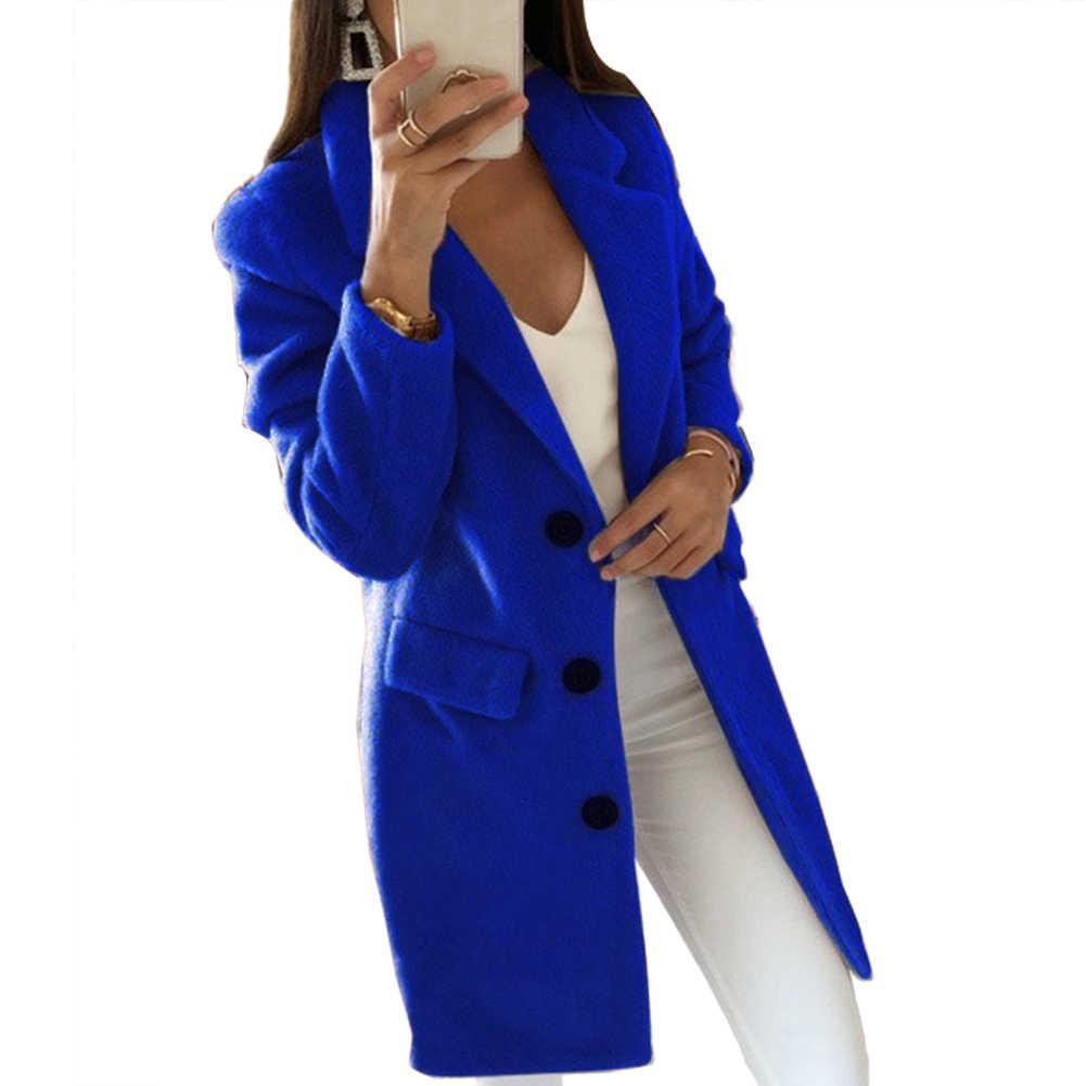 3-5xl 가을 겨울 긴 소매 카디 건 솔리드 컬러 여성 옷깃 블레 이저 재킷 코트 여성 의류 고품질 코트 패션 2