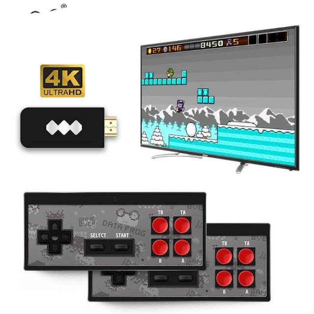 Y2 4K لعبة فيديو وحدة التحكم المدمج في 568 الألعاب الكلاسيكية وحدة تحكم صغيرة الرجعية وحدة تحكم لاسلكية HDMI الناتج المزدوج اللاعبين W91A