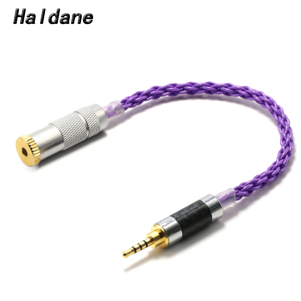 Haldane HIFI 2.5mm TRRS Balanced Male to 3.5mm TRRS Balanced Female Audio Adapter Cable For AK240 AK380 AK320 DP-X1(purple image