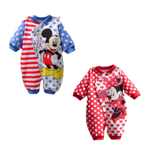 Mickey Baby Rompers Baby Girl Clothes Sp