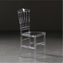 Nordic detachable resin dining chair acrylic crystal chair