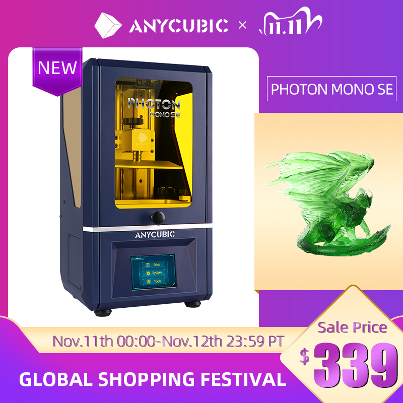 Newest ANYCUBIC Photon Mono SE 3D Printer APP Remote Control LCD UV 3D Printing High Speed Resin 3D